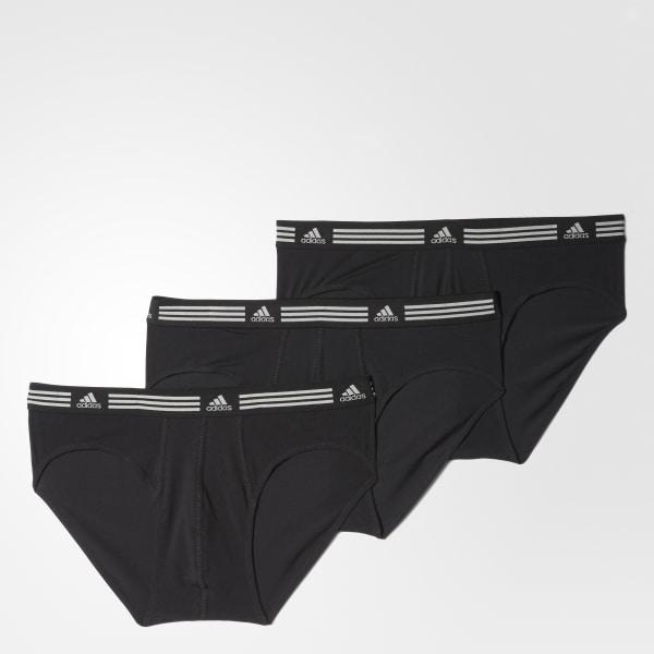 cf1f9110ef34 adidas Athletic Stretch Briefs 3 Pairs - Black