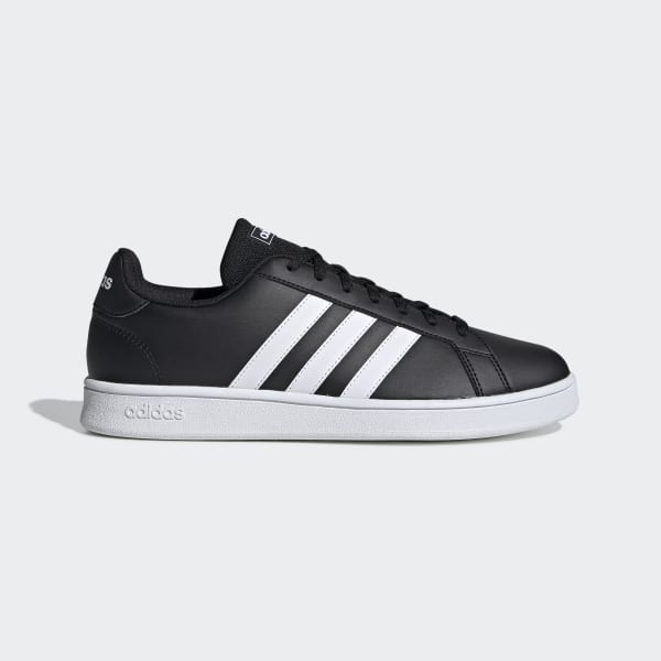 Adidas Grand Court Base Men's Trainers in Black | Deichmann