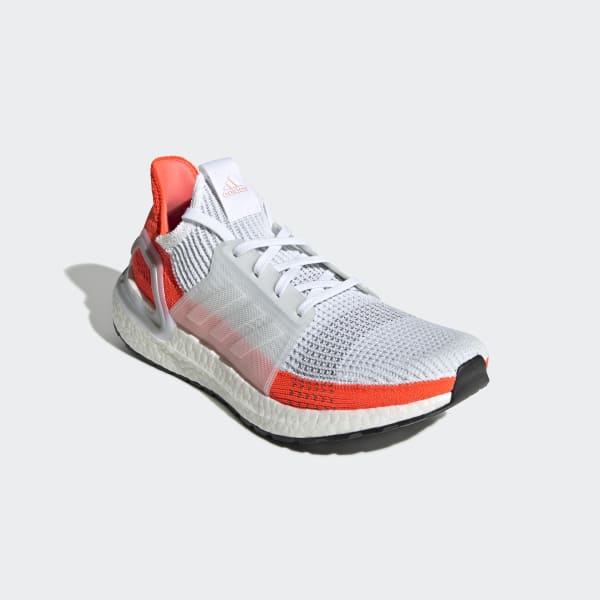 Men S Ultraboost 19 Cloud White And Red Shoes Adidas Uk
