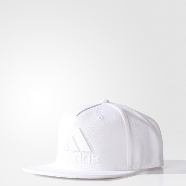 e78b92547763 adidas Gorra de Visera Plana - Blanco | adidas Colombia