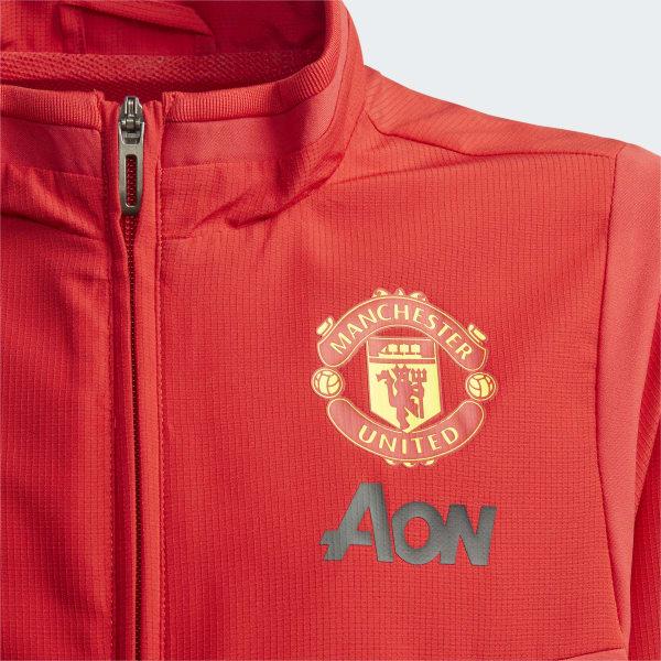 2019 2020 Man Utd Adidas Presentation Jacket (Blue) Kids