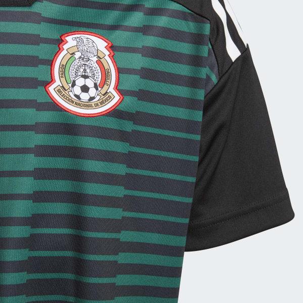adidas Jersey Prepartido Selección de México Local Niño 2018 - Verde ... b0a36b7c7a015