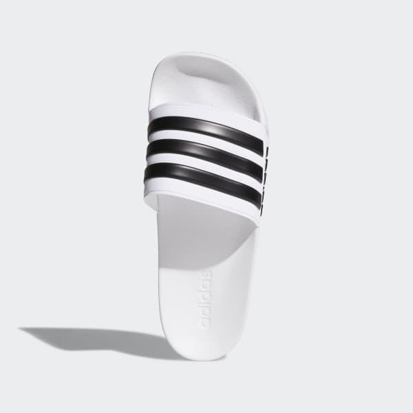 Men's White & Black adilette Cloudfoam Slides | AQ1702 | adidas US