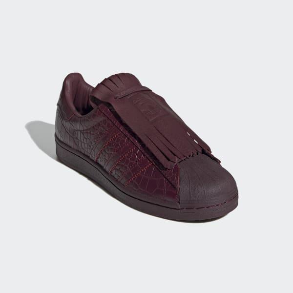 adidas slip on maroon