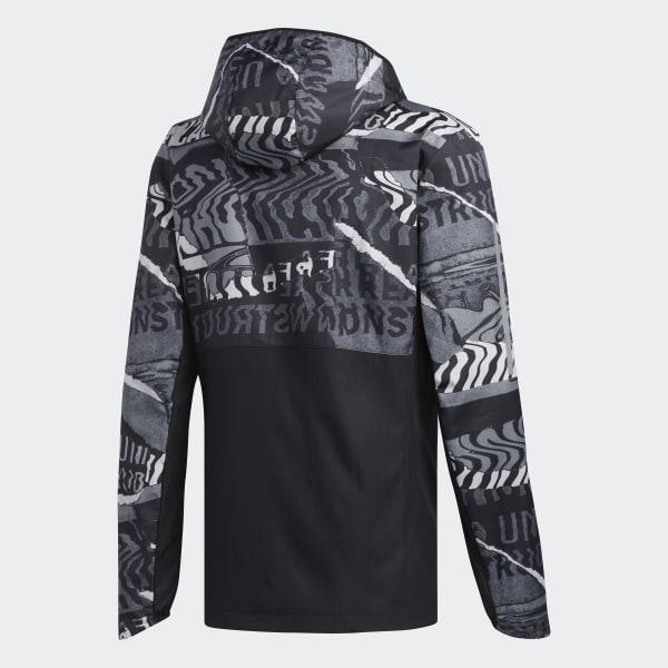 adidas Own The Run Graphic Jacket Black | adidas Belgium