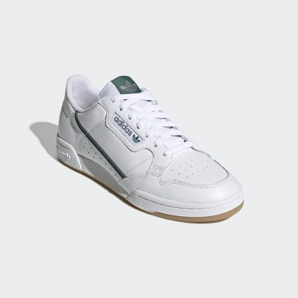 Zapatilla Continental 80 Cloud White / Grey Three / Collegiate Green FV2873