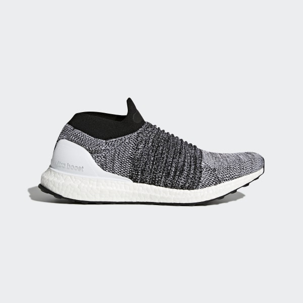 Adidas Ultra BOOST Laceless men gray red running shoes