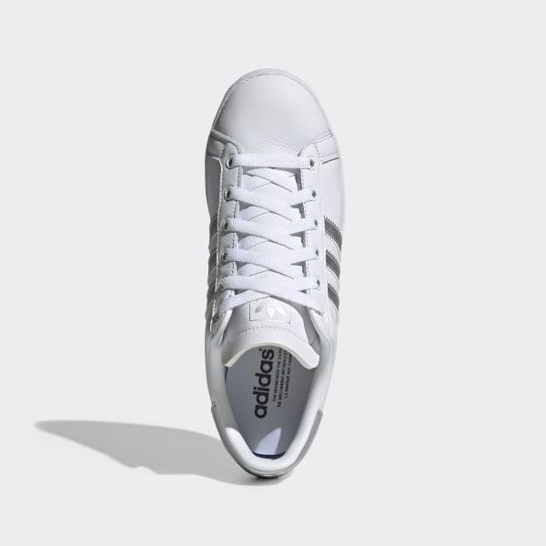 adidas Coast Star Kadın Beyaz Gümüş Spor Ayakkabı