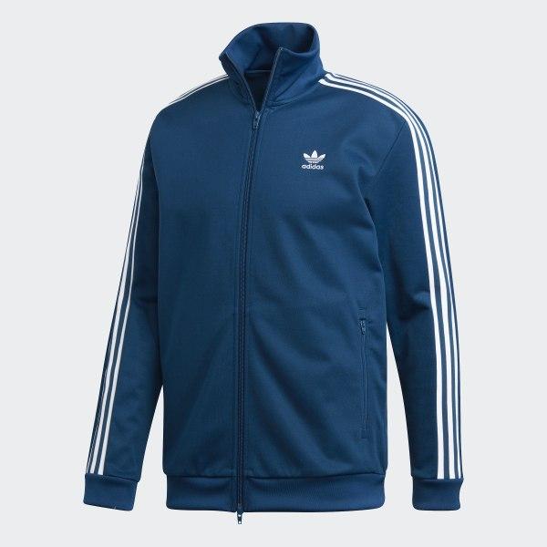Veste de survêtement Adidas bleu marine et jaune