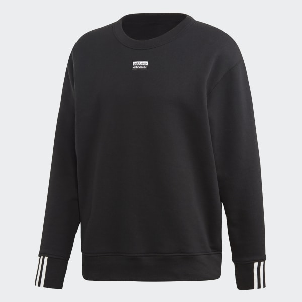 Buy Black adidas Originals R.Y.V. Crew Sweatshirt | JD Sports