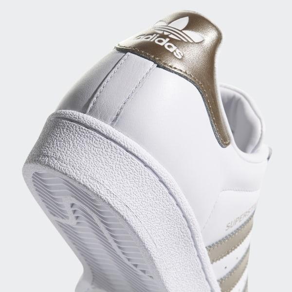 Chaussures pour Femmes Adidas Super Star CG5463 Blanc or