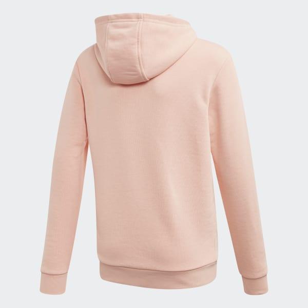 adidas Mädchen Trefoil Hoodie, Light PinkWhite, 140: Sport