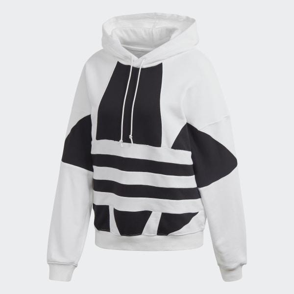 adidas hoodie weisse schultern und wesse kapuze