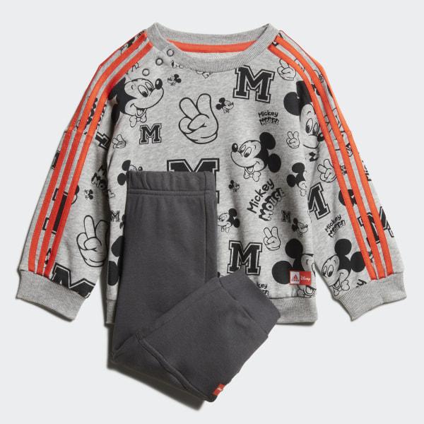 adidas Disney Mickey Maus Jogginganzug Grau | adidas Deutschland