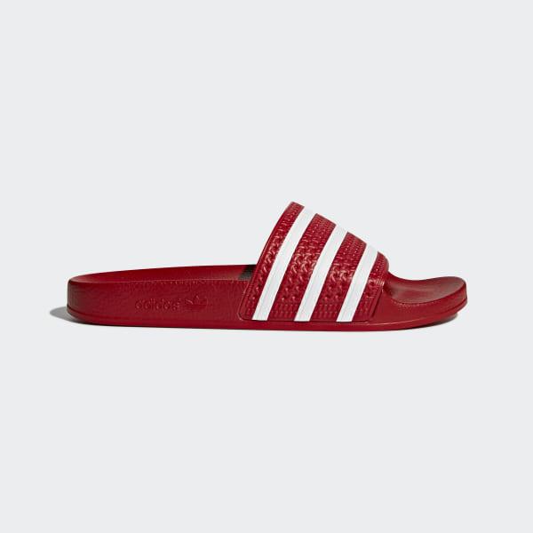adidas adilette Slides - Red   adidas New Zealand