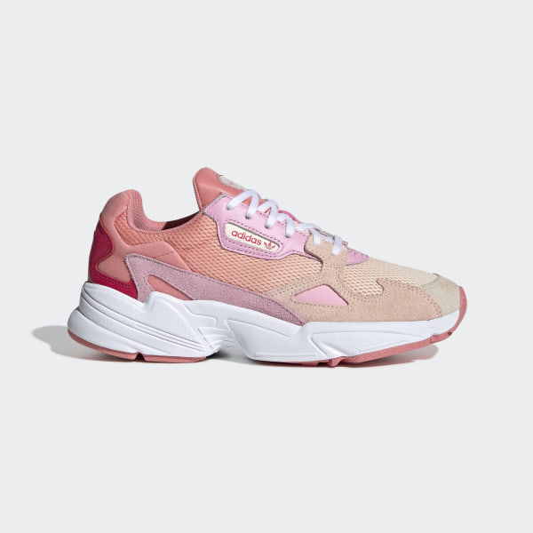 adidas pink falcon trainers in 2020 | Pink adidas, Pink