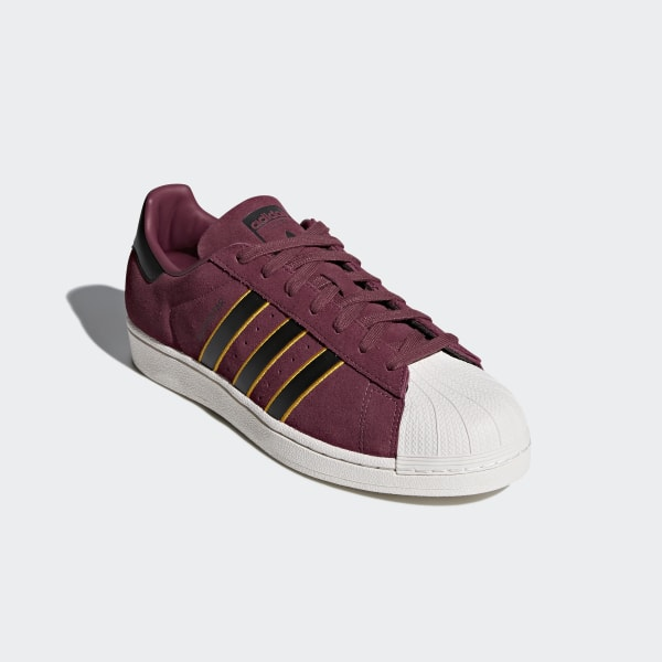adidas Originals SUPERSTAR Weiss Bordeaux Schuhe Sneaker
