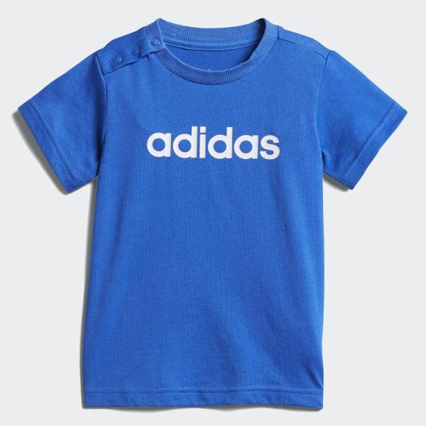Boys adidas Playground Tee Blue