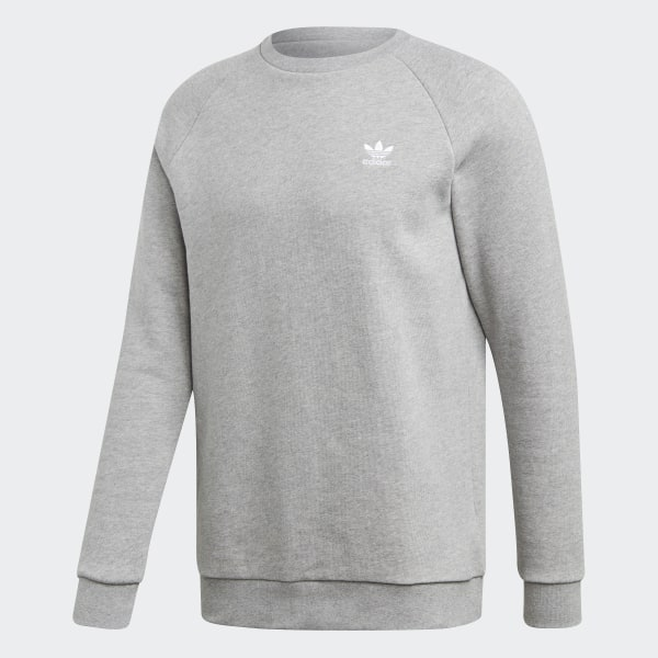 Details about adidas Mens Essential Crew Sweater Jumper Pullover Long Sleeve Neck Warm