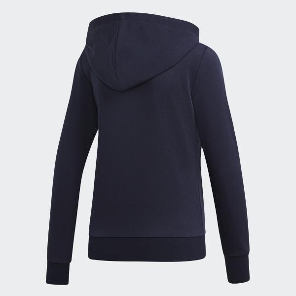 Veste à capuche Essentials Linear Bleu adidas | adidas Switzerland