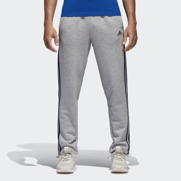 adidas Essentials 3 Stripes Fleece Pants Grey | adidas Australia