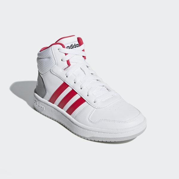 adidas Hoops 2.0 Mid Schuh Weiß | adidas Switzerland