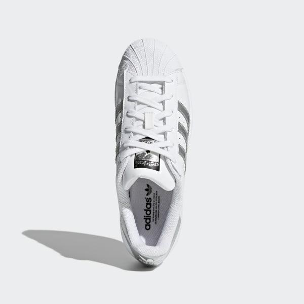chaussure adidas metallic silver et noir