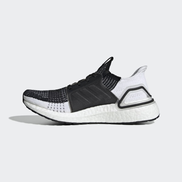adidas UltraBoost 19 W Black Grey White Women Running Shoes Sneakers B75879