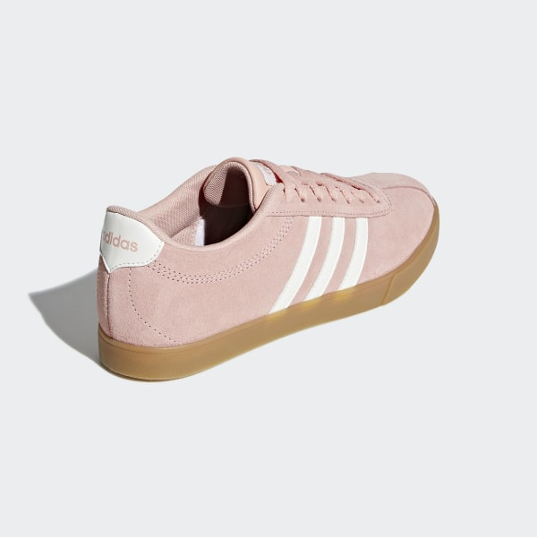 adidas Womens Court Set Suede Trainers Black & Pink