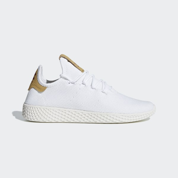 adidas originals x pharrell williams tennis hu scarpe da ginnastica in bianca
