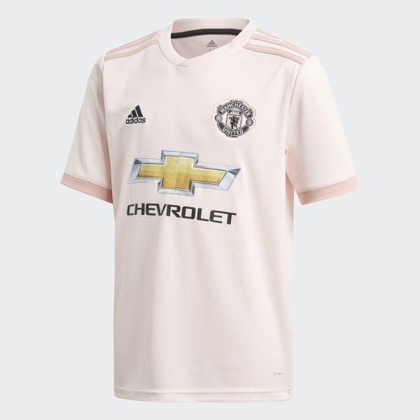 2018 2019 Man Utd Adidas Training Rain Jacket (Pink)