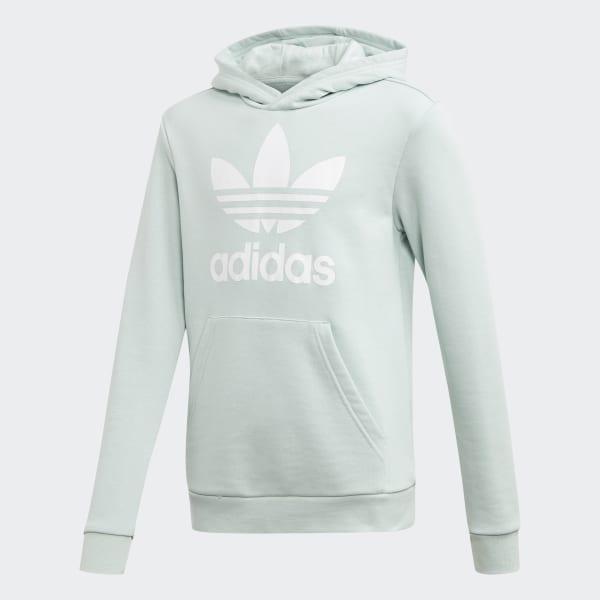 Adidas Originals Junior Trefoil Hoodie (Trace GreenWhite)