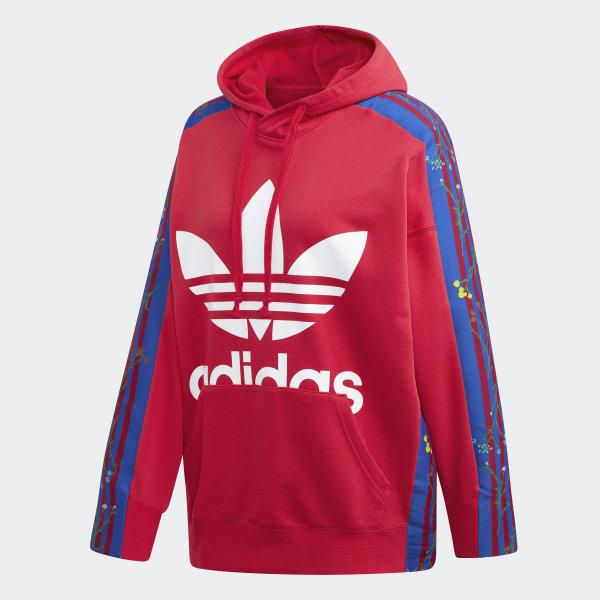 adidas Sweat shirt à capuche Floral Rose | adidas Belgium