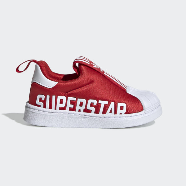 adidas superstar shoes red and white