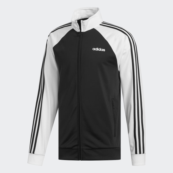 adidas Essentials 3 Stripes Track Jacket Black | adidas US