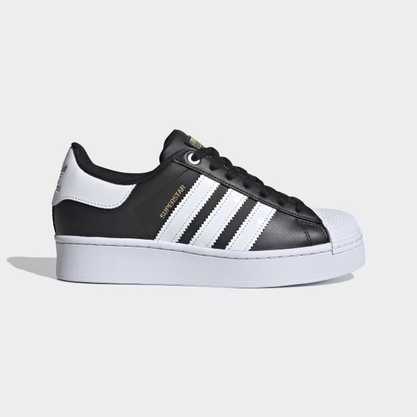 Superstar Bold Schoenen Core Black / Cloud White / Gold Metallic FV3335