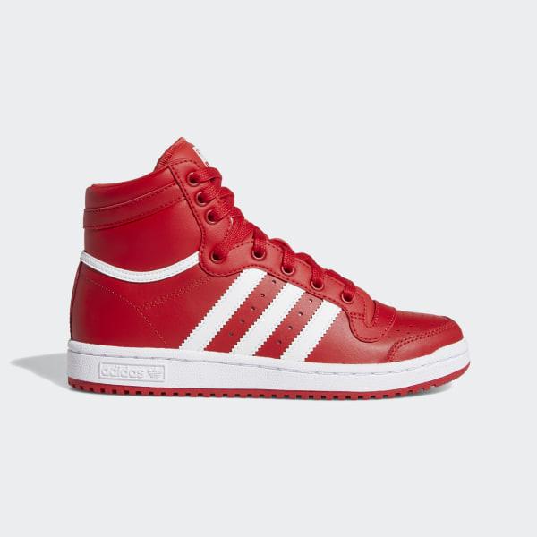 adidas Top Ten Hi shoes white blue red
