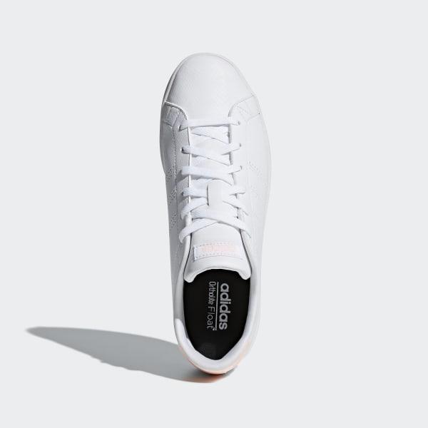 Tenis adidas Advantage Clean Qt Blanco Rosa