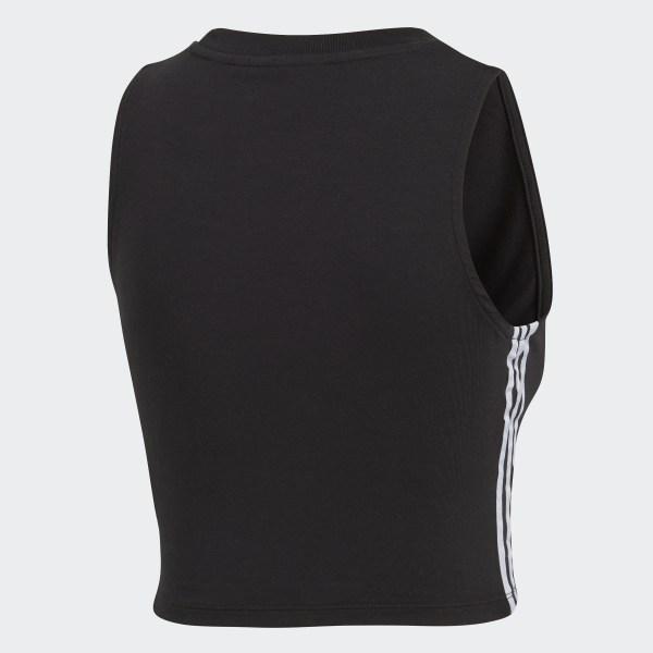 Black All Sizes Adidas Originals Crop Womens Vest Tank