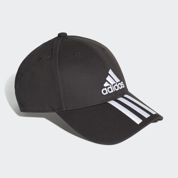 adidas Six Panel Classic 3 Stripes Cap Black | adidas Australia
