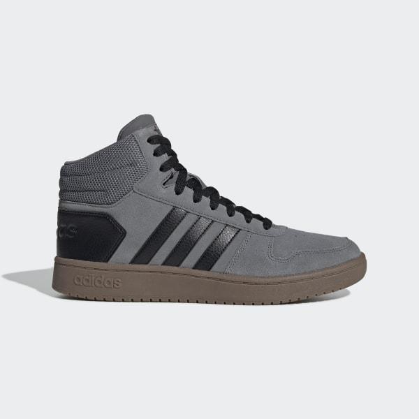 adidas Hoops 2.0 Mid Schoenen - Grijs | adidas Officiële Shop
