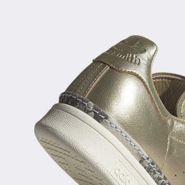 adidas Originals Zapatillas doradas Stan Smith New Bold Mujer