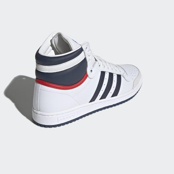 ADIDAS TOP TEN Sleek Series High Sneaker Gr 40 23 UK 7 schwarz weiß Lack