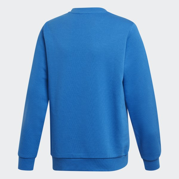 Womens Blue Trefoil Crew Sweatshirt