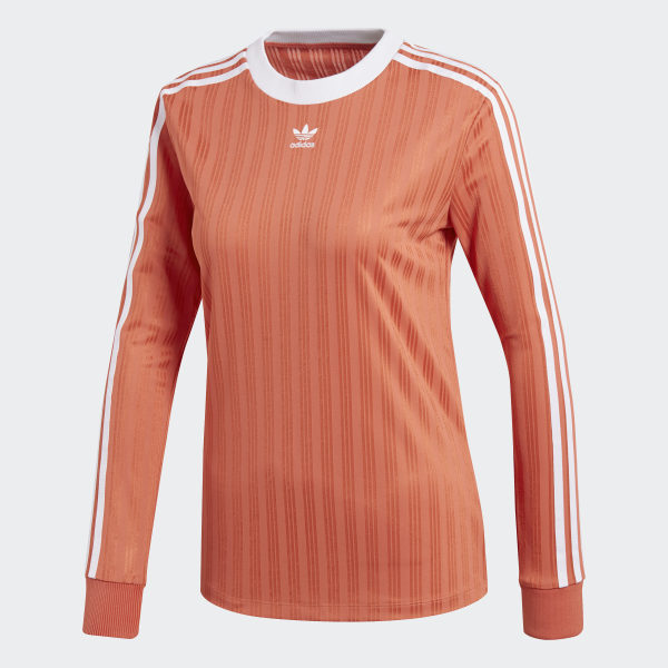 adidas 3 Streifen Longsleeve Rot | adidas Deutschland