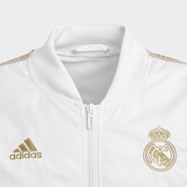 adidas Real Madrid Anthem Jacket White | adidas US