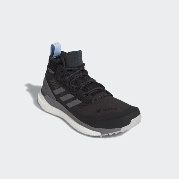 adidas Terrex Free Hiker GTX Shoes Women carbon grey four glow blue