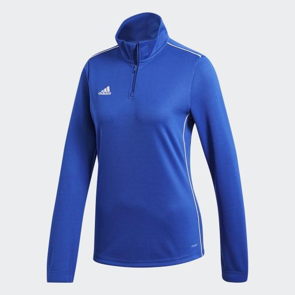 adidas Core 18 Sweat Top Dark BlueWhite Mens Football