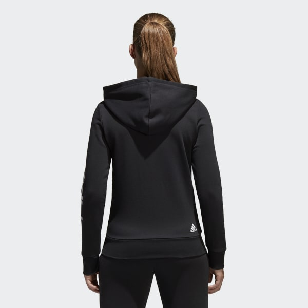 adidas Essentials Linear Full Zip Hoodie Black | adidas New Zealand