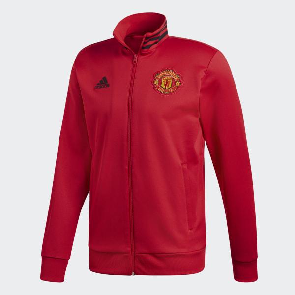 Adidas Chaqueta con capucha Manchester United FC 3 bandas